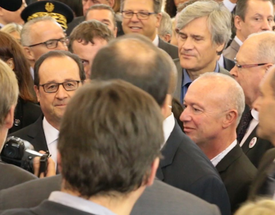 François-André Allaert et François Hollande